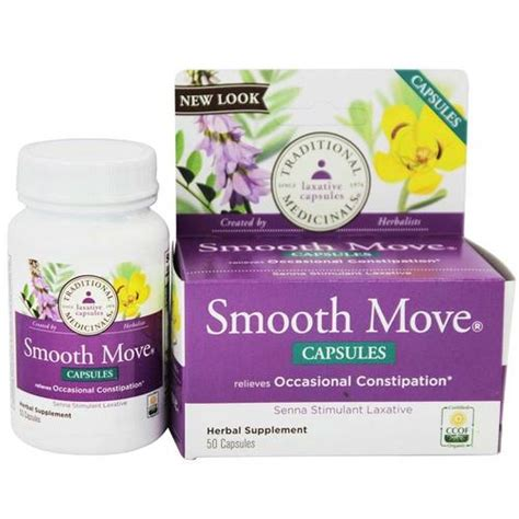 Smooth Move Detox by Traditional Medicinals Smooth Move Senna 50 Capsules