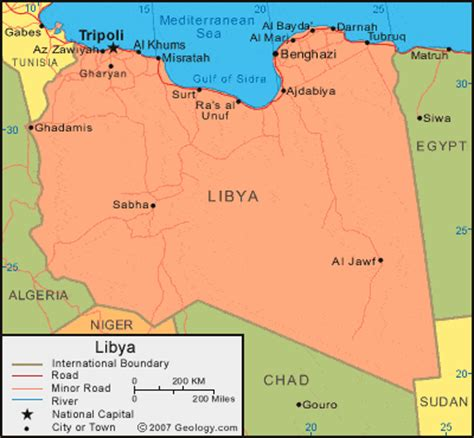 where is libya on the world map libya map and satellite image