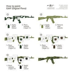 Lackieren Mit Pistole Lernen by Camouflage Stencils Guns Multicam Search Gear