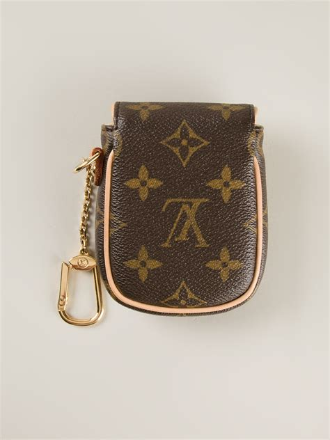 Marks Spencer Coach Style Mini Handbag Keyring by Louis Vuitton Mini Pouch Keyring In Brown Lyst