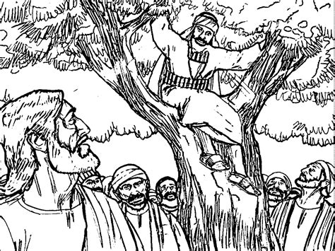 coloring page of jesus and zacchaeus jesus zacchaeus coloring page coloring pages zacchaeus