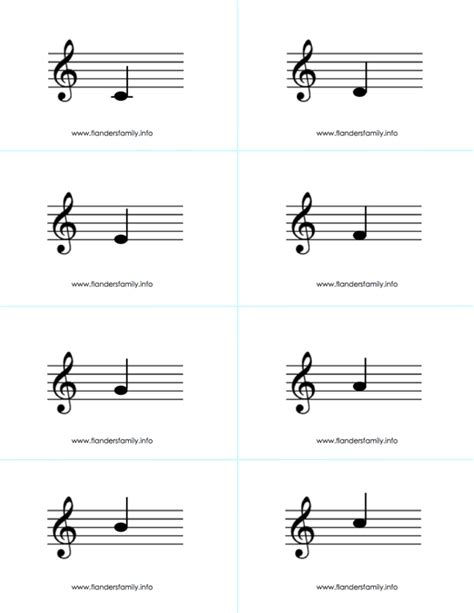 printable violin note flash cards musical note flashcards for beginning piano students free