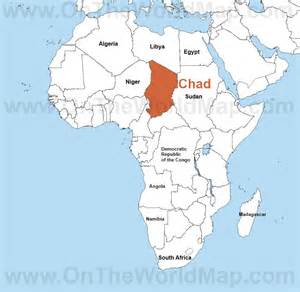 Chad Africa Map gallery for gt chad map africa