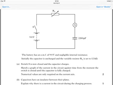 what does a capacitor do physics homework and exercises explaining why there is current in a circuit with a capacitor whilst