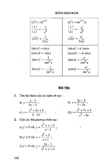 Bài 3: Đạo hàm của hàm số lượng giác - Download Sách Hay