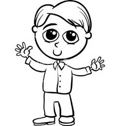 Galerry cartoon boy coloring page