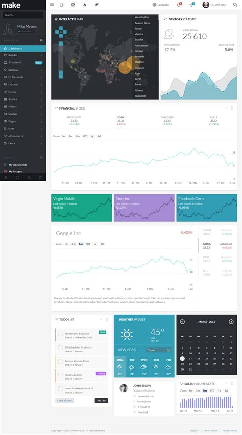 making theme responsive 40 best html5 dashboard templates and admin panels 2017