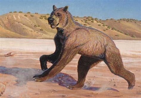 cool paleoart image short faced bear short faced bear prehistoric animals extinct animals