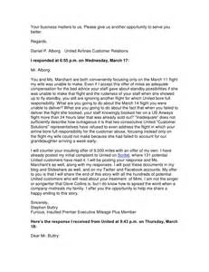 Delayed Flight Compensation Letter Template by United Airlines Complaint Resolved