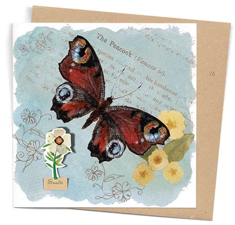 seed cards blue butterfly seed card by seedlings cards notonthehighstreet