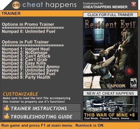 resident evil 5 trainer cheats hack keycrackdownload resident evil hd remaster 1 trainer download