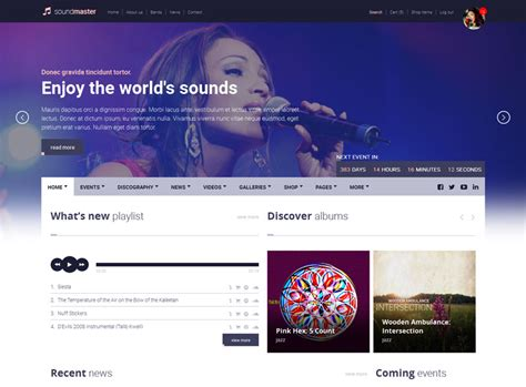 90 Best Music Website Templates Free Premium Freshdesignweb Best Site Templates