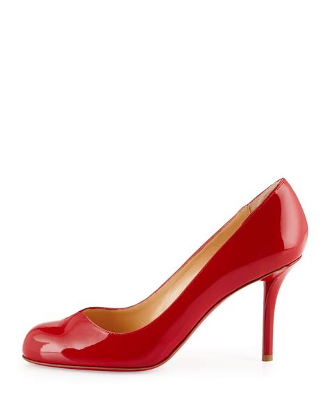 Patent Pumps lyst christian louboutin notched patent