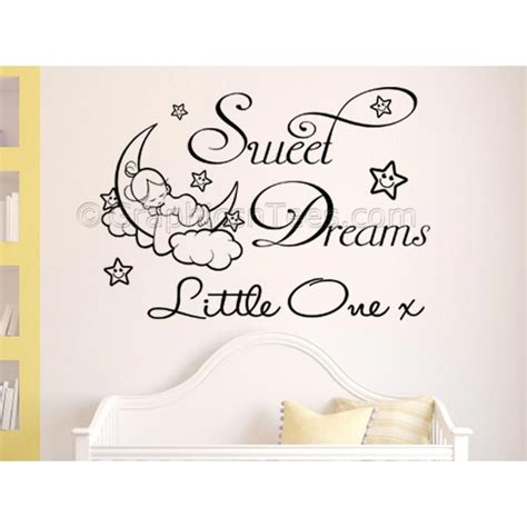 childrens bedroom wall stickers sweet dreams one nursery wall sticker childrens