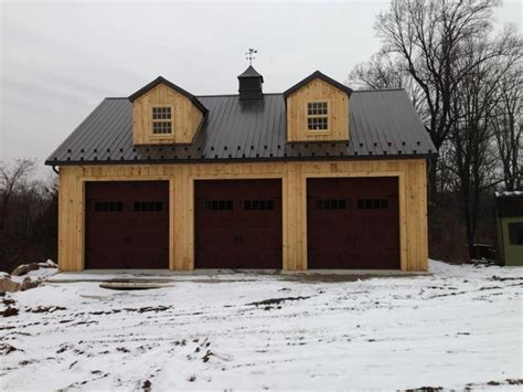 3 car garage with 2nd floor in Mohnton, PA with wood board