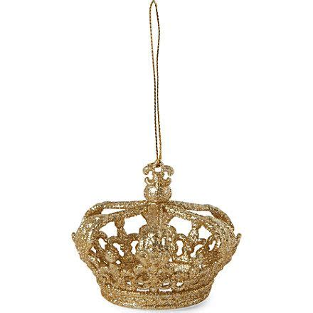 gisela graham glitter crown christmas tree decoration