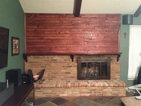 Cheap Wall Fireplace by Diy Stain Fireplace Brick Wilker Do S