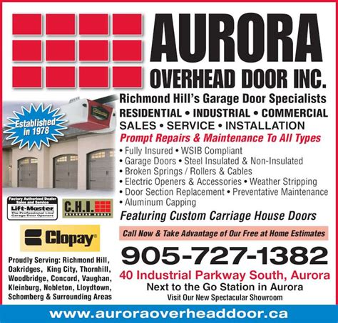 overhead door hours overhead door hours garage door repair find or advertise