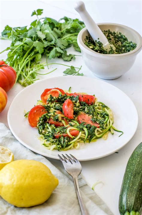 Cilantro For Detox by A Detox Dinner You Won T Zucchini Noodles With