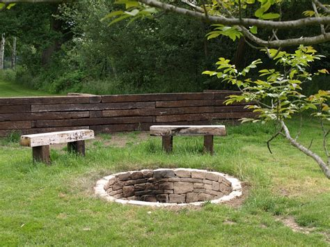 Rustic Firepit Garden Pits And Garden Fireplaces And Chimneys Ideas Landscape Garden Designers Reading