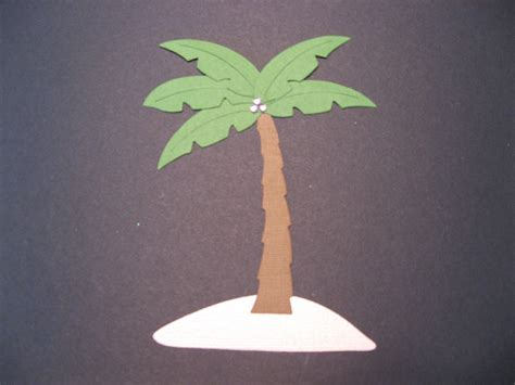 A Palm Tree Out Of Paper - palm tree die cut paper piecing