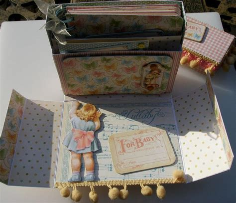 Handmade Baby Scrapbook Ideas - ooak handmade rock a bye baby scrapbook photo album