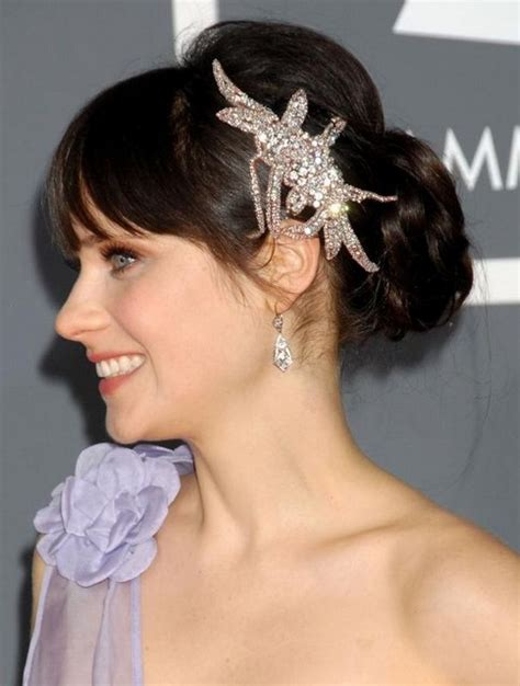 elegant hairstyles bangs 27 zooey deschanel hairstyles pictures of zooey s