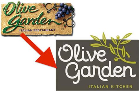 the olive garden and their new logo caosh