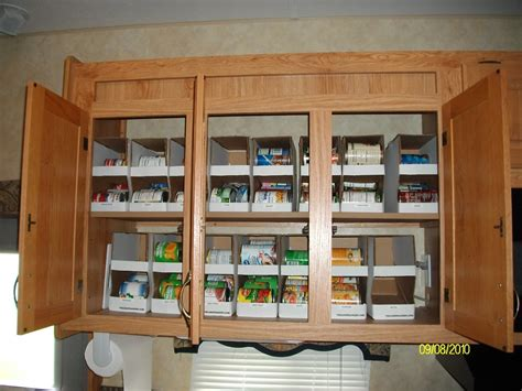 Rv Cabinet Organizers by Doing Best For Him Organizing The 5th Wheel Kitchen