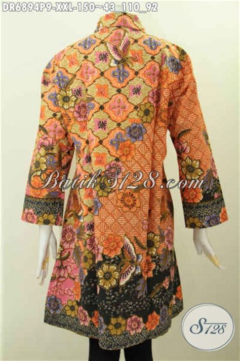 desain baju batik orang gendut desain baju batik wanita atasan dress batik kerah miring