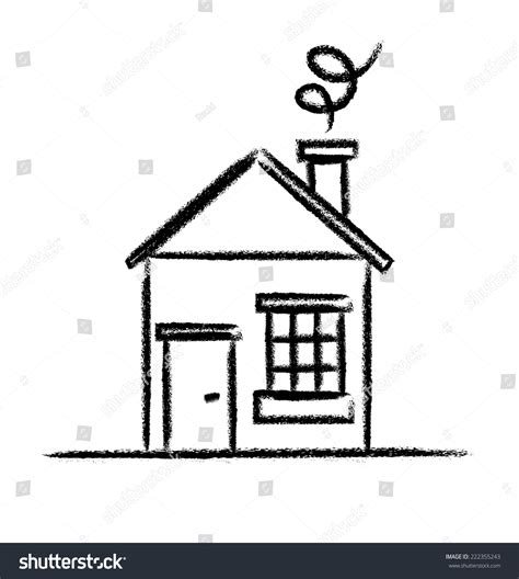 house line drawing images stock photos vectors shutterstock house sketch outline stock vector illustration 222355243