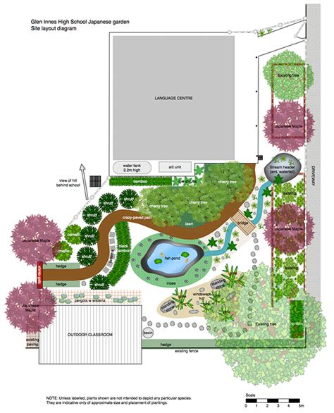 japanese garden layout japanese garden plans pdf