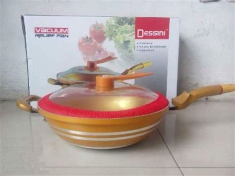 Panci Dessini cooker gold pan golden pan panci teflon masak bagus
