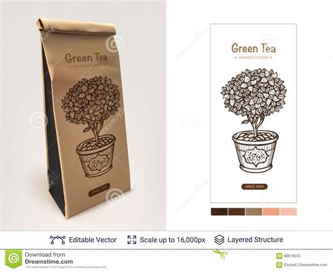 Time For Wonderfully Packaged Tea by Tea Package Design Stock Vector Image Of Icon Coffee
