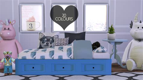 sims  blog basic day bed mesh recolors frame   dreamcatchersims