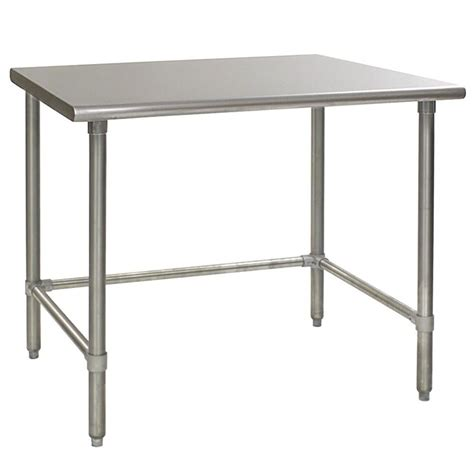 30 x 48 stainless steel table eagle t3048gtem 30 quot x 48 quot open base stainless steel