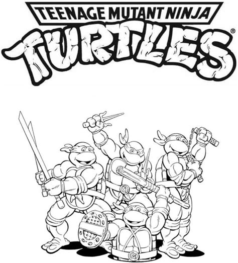 Printable Coloring Pages Mutant Turtles