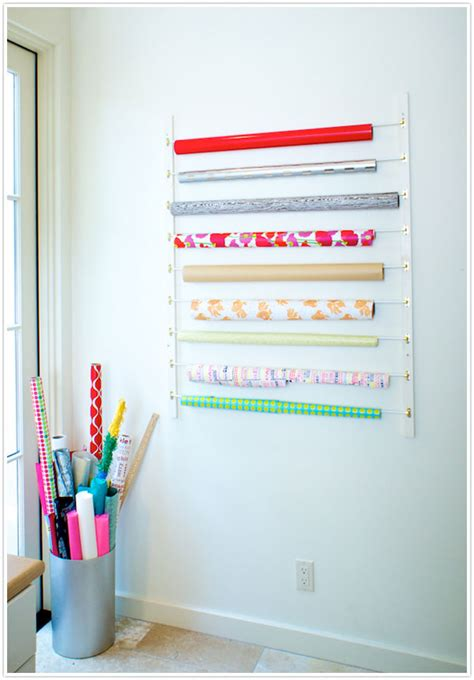 Craft Paper Storage Rack - diy craft room hacks from 10 crafty blogs storage