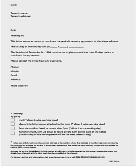 Termination Of Lease Letter Template For Landlord Lease Letter Templates 8 Free Sle Exle Format