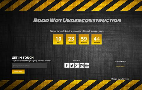 dark under construction mobile website template by w3layouts