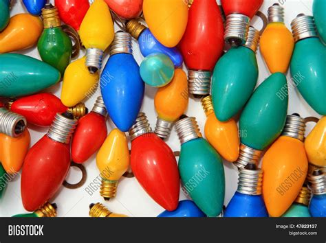 old colored christmas lights retro vintage style holiday lights image photo bigstock