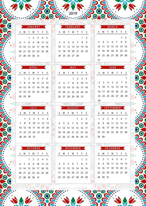 single page calendar template free one page calendar template printable 2019