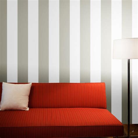 grey removable wallpaper stripes modern classic light dark grey removable wallpaper