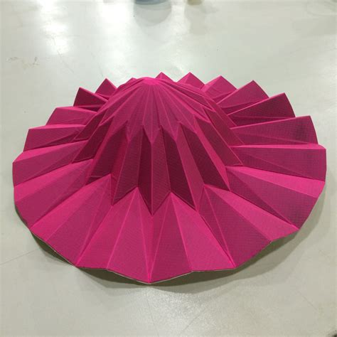 Paper Origami Hat - fab lab barcelona fabtextiles