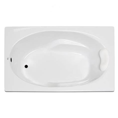 acrylic drop in bathtub shop laurel mountain faber 59 in white acrylic drop in