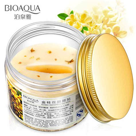 Bioaqua Mask bioaqua 80 pcs bottle gold osmanthus eye mask protein care sleep patches health care