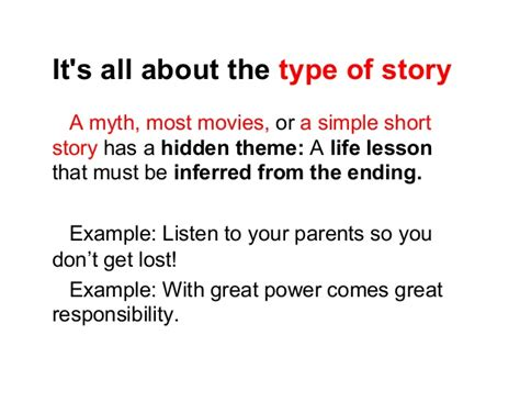 different types of themes in stories theme examples alisen berde