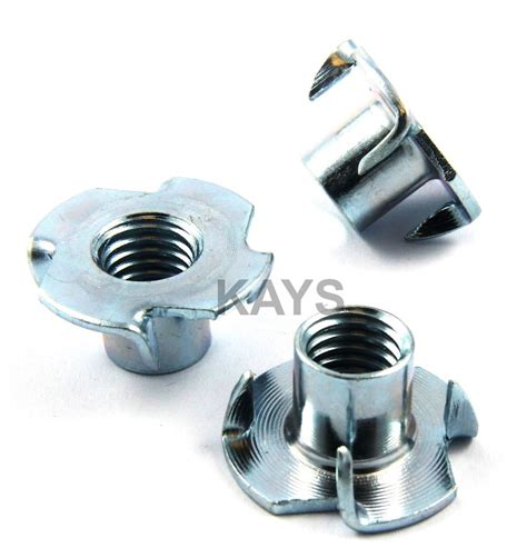 woodworking nut m4 m5 m6 m8 m10 four pronged t nuts captive blind