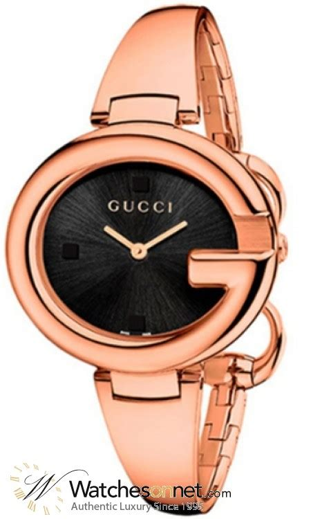 Gucci Gelang Gold Black 1 gucci guccissima ya134305 s gold plated quartz