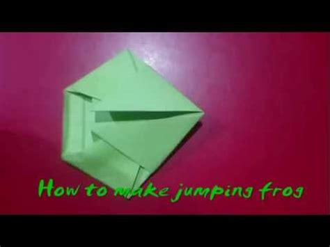 How To Make A Jumping Frog Out Of Paper - how to make a jumping paper frog with paper that jump and